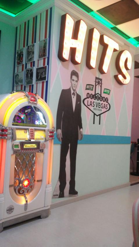Rótulo luces restaurante hits