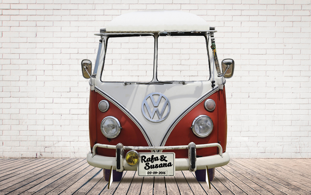 Photocall furgo hippie