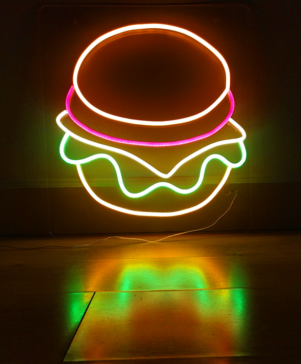 Burger neón led