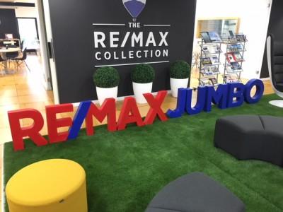Logo gran tamaño porexpan pintado Remax Jumbo (madrid)
