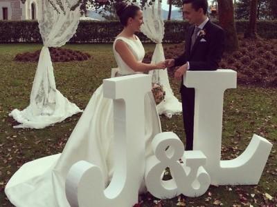 Iniciales decorativas para bodas
