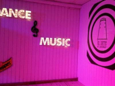 Rótulo luminoso decorativo Dance & Music