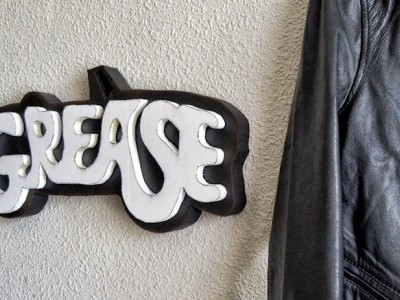 Rotulo Grease vintage