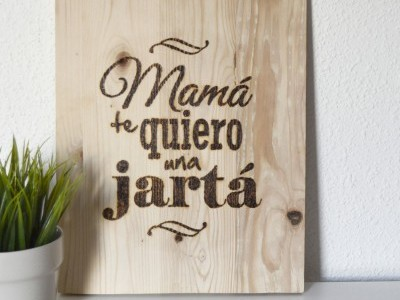 Tabla pirograbada regalo mamá