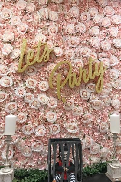 Rótulo letras corporesas brillantina decoración tienda