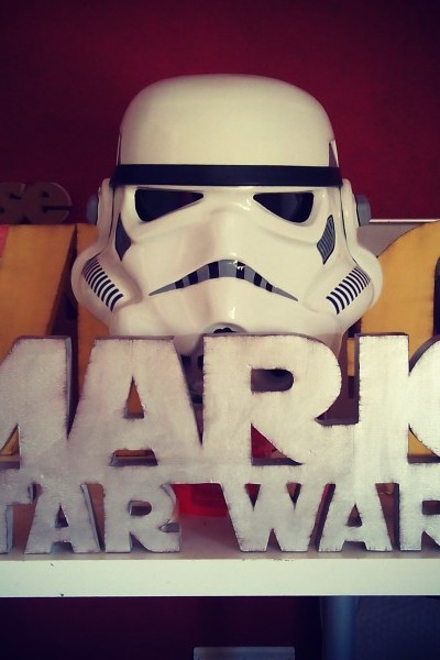 Nombre decorativo fan star wars
