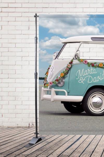 Alquiler photocall furgoneta hippie